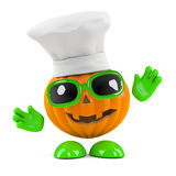 3d Pumpkin chef Stock Photos
