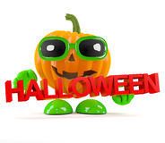 3d Pumpkin halloween Royalty Free Stock Image