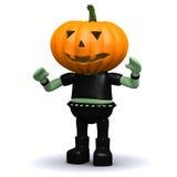 3d Pumpkin head monster Stock Photos