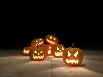 3D pumpkin heads Royalty Free Stock Images
