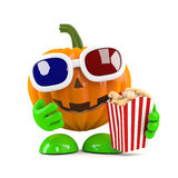 3d Pumpkin at the movie theatre Stock Photos