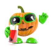 3d Pumpkin party Stock Images