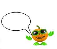 3d Pumpkin speaks Royalty Free Stock Photography