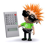 3d Punk does math Royalty Free Stock Photos