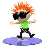 3d Punk dvd Royalty Free Stock Photos