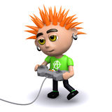 3d Punk gamer Royalty Free Stock Image