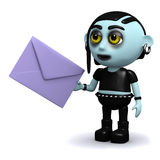 3d Punk goth has mail Royalty Free Stock Photo