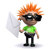 3d Punk has mail Stock Image