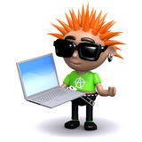 3d Punk laptop royalty free illustration
