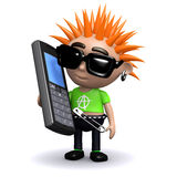 3d Punk mobile Stock Photography