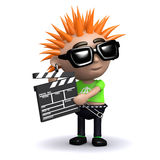 3d Punk movie maker Royalty Free Stock Photo