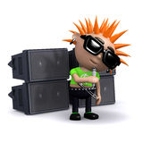 3d Punk singer Stock Photo