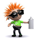 3d Punk sprays paint Stock Images