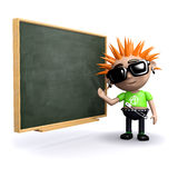 3d Punk teacher Stock Image