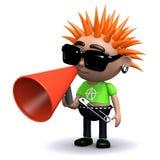 3d Punk using a megaphone Stock Photos