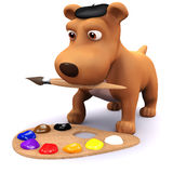 3d Puppy artist Royalty Free Stock Images