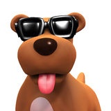 3d Puppy dog in cool shades Stock Images