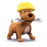 3d Puppy mechanic Royalty Free Stock Photography