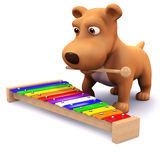 3d Puppy music Royalty Free Stock Photos