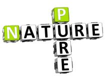 3D Pure Nature Crossword text. Over white background Stock Photography