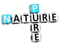 3D Pure Nature Crossword text. Over white background Royalty Free Stock Photo