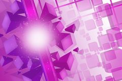 3d purple cubes, abstract background Royalty Free Stock Photography