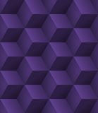 3d purple cubes seamless. Abstract seamless background with 3d purple cubes with realistic shadow Royalty Free Stock Photo