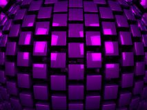 3d purple metal cubes background pattern. 3d illustration Stock Photos