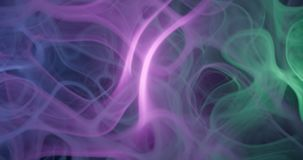 3d . Purple, pink and blue cloud smoke on black isolated background. illustration backgrounds. Magic fog. Purple, pink and blue cloud smoke on black isolated stock photo