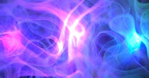 3d . Purple, pink and blue cloud smoke on black isolated background. illustration backgrounds. Magic fog royalty free stock images
