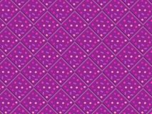 3D purple seamless pattern of rhombuses and squares. 3D decorated purple rhombuses with bright spots in a repeating pattern. futuristic geometric colorful design Stock Photography