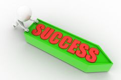 3d pushing success concept Royalty Free Stock Photography