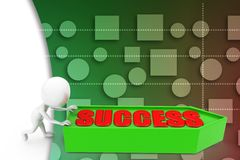 3d pushing success illustration Stock Photos