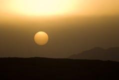 3 d pustyni ilustracji słońca Obrazy Royalty Free