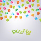3D Puzzle background . Can be used for web design , diagram, for workflow layout Stock Images