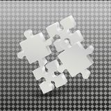 3D puzzle business presentation. On a transparent background. Business presentation. Royalty Free Stock Images