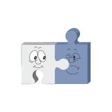 3d puzzle cartoon smile emotion 32 Royalty Free Stock Photos