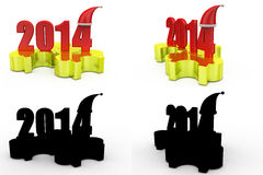 3d 2014 puzzle concept collections with alpha and shadow channel Stock Images