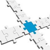 3D Puzzle Connection / Teamwork symbolism. 3D Puzzle Connection Teamwork symbolism Stock Photography