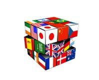 3d puzzle cube Stock Photo