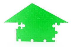 3d puzzle home concept Stock Images