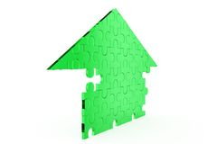 3d puzzle home concept Royalty Free Stock Images