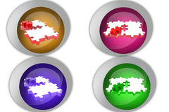 3d puzzle icon Stock Photos