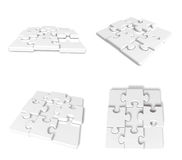 3D Puzzle icon. 3D Icon Design Series. Stock Photo