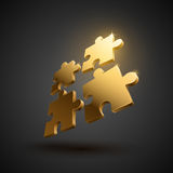 3D puzzle illustration Stock Images