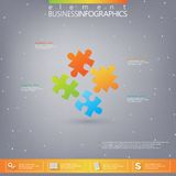3D Puzzle piece infographics . Can be used for web. Design , diagram, for workflow layout Stock Images