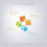 3D Puzzle piece infographics. Can be used for web design, diagram, for workflow layout Stock Photography