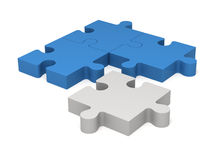 3D puzzle pieces. Concept innovations. Royalty Free Stock Photography