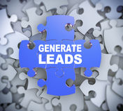 3d puzzle pieces - generate leads Stock Photography
