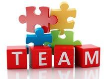 3d puzzle pieces. Teamwork concept. Stock Images